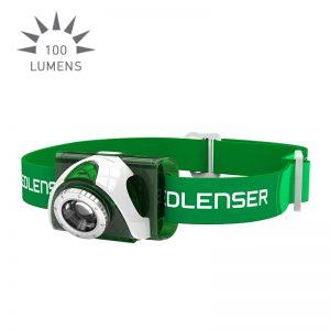 Ledlenser SEO3 Headlamp - green